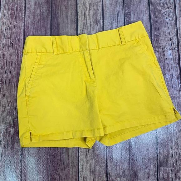 "LOFT Yellow Riviera 4"" Inseam Shorts"
